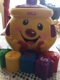 Fisher price shapes cookie jar