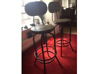 A pair of Quality Made Bar Stools