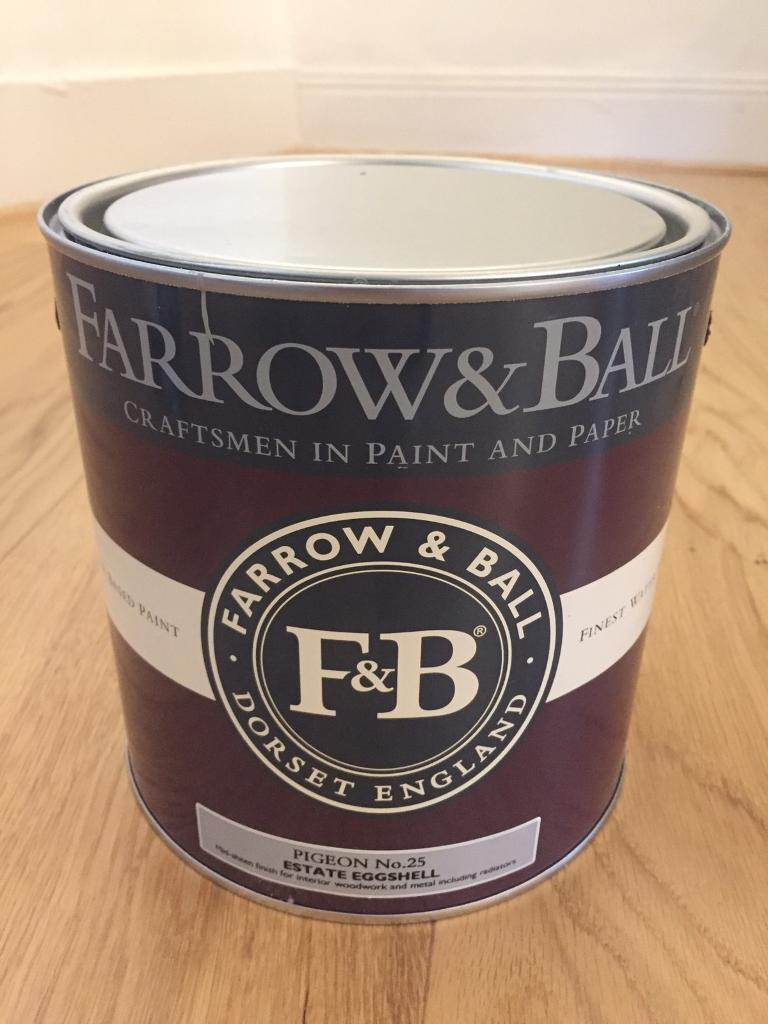 Farrow & Ball Large Tin (2.5l) Pigeon Bought for £60