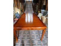 new large rosewood dining table and eight chairs