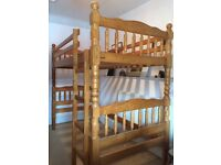 Child's pine cabin bed