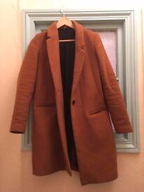 Zara vintage style camel wool coat - size S