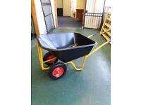 Twin Wheeled Plastic Tipper Barrow 130L