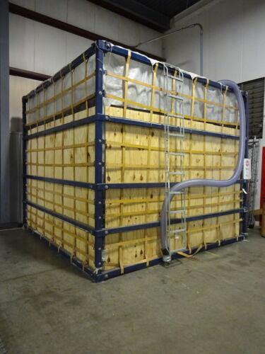 FELLFAB FELCO 60,000LB. CAP. BAG TYPE PORTABLE STORAGE SILO FOR PLASTIC