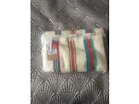 Joules striped bath towel
