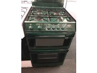CANNON 55CM ALL GAS COOKER IN GREEN WITH LID