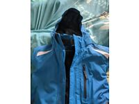 2 sets of Kids Ski Snowboard Jacket and salopette trousers
