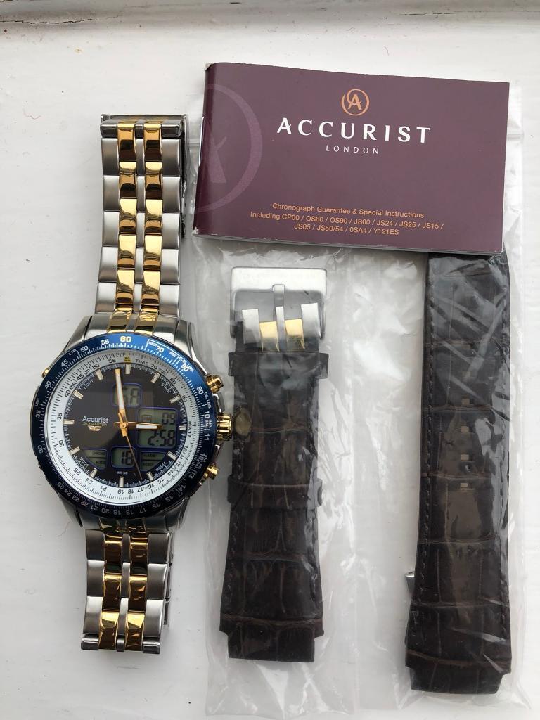 d91151f855ce Accurist dual time watch
