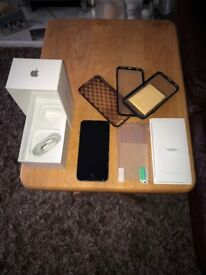 iphone 6s 64gb space grey mint condition with original box + usb cable + extra cases. NO SWAPS