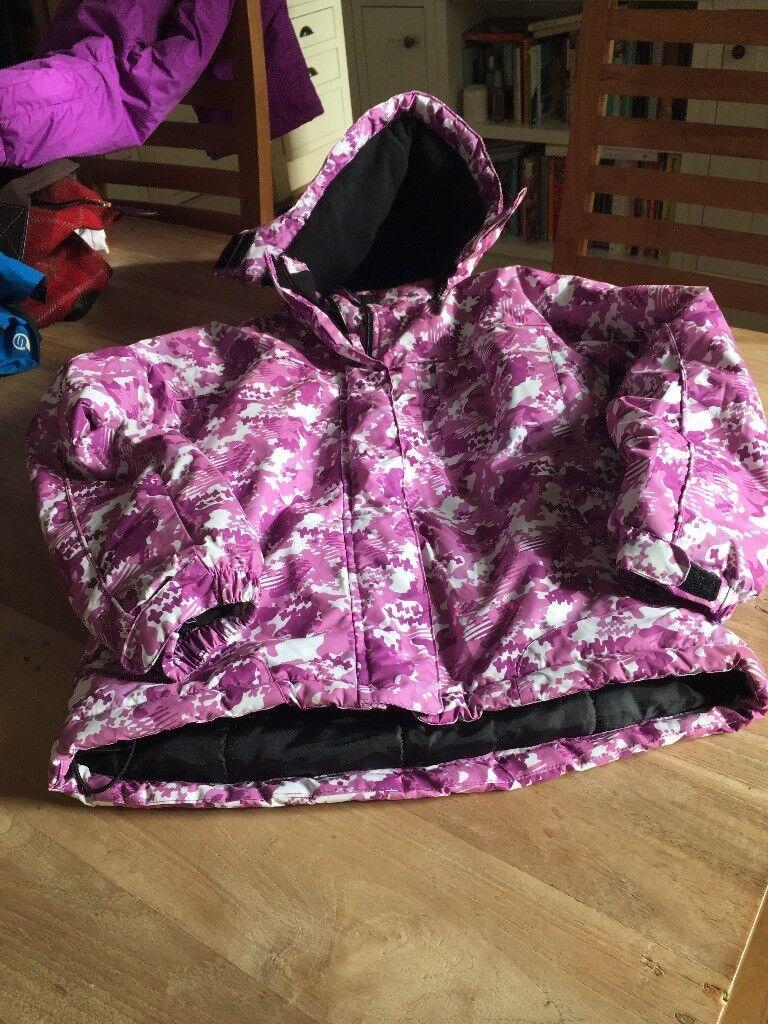 Girls ski jacket and salapettes, Spindrift 11/12 yrs. Purple/White Jacket and purple salapettes