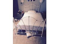 Quality white metal bed with Kozee mattress