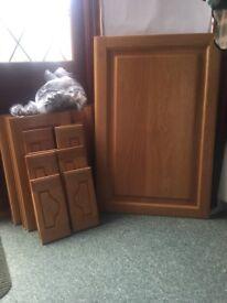 Oak kitchen door and draw fronts