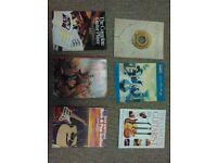Guitar tablature books- Iron Maiden, Qhitesnake, Oasis etc