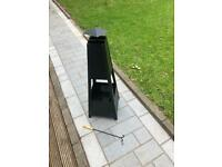 Garden patio heater chiminea fire pit log charcoal burner