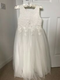 Girls Communion dress age 8yrs Ivory RJR John Rocha RRP £80 - sell for £30