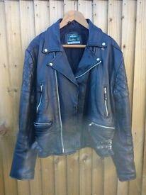 Akaso, Leather Motorcycle/Motorbike Jacket.