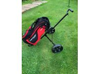 Junior golf bag and trolley
