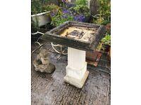 Original stone bird bath