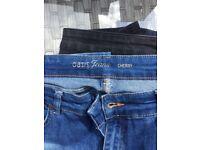 Oasis Cherry Design Size 16 Ladies Jeans