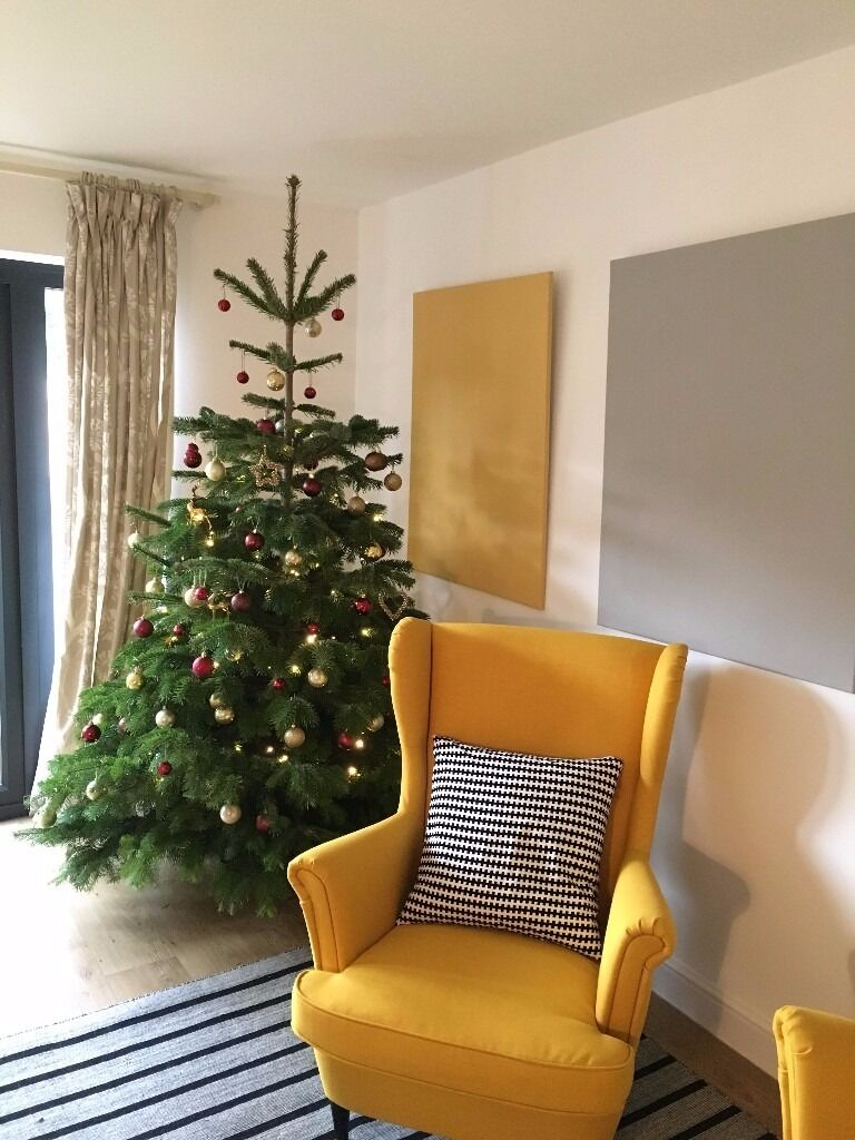 yellow armchair wing back chair ikea strandmon in norwich norfolk gumtree. Black Bedroom Furniture Sets. Home Design Ideas