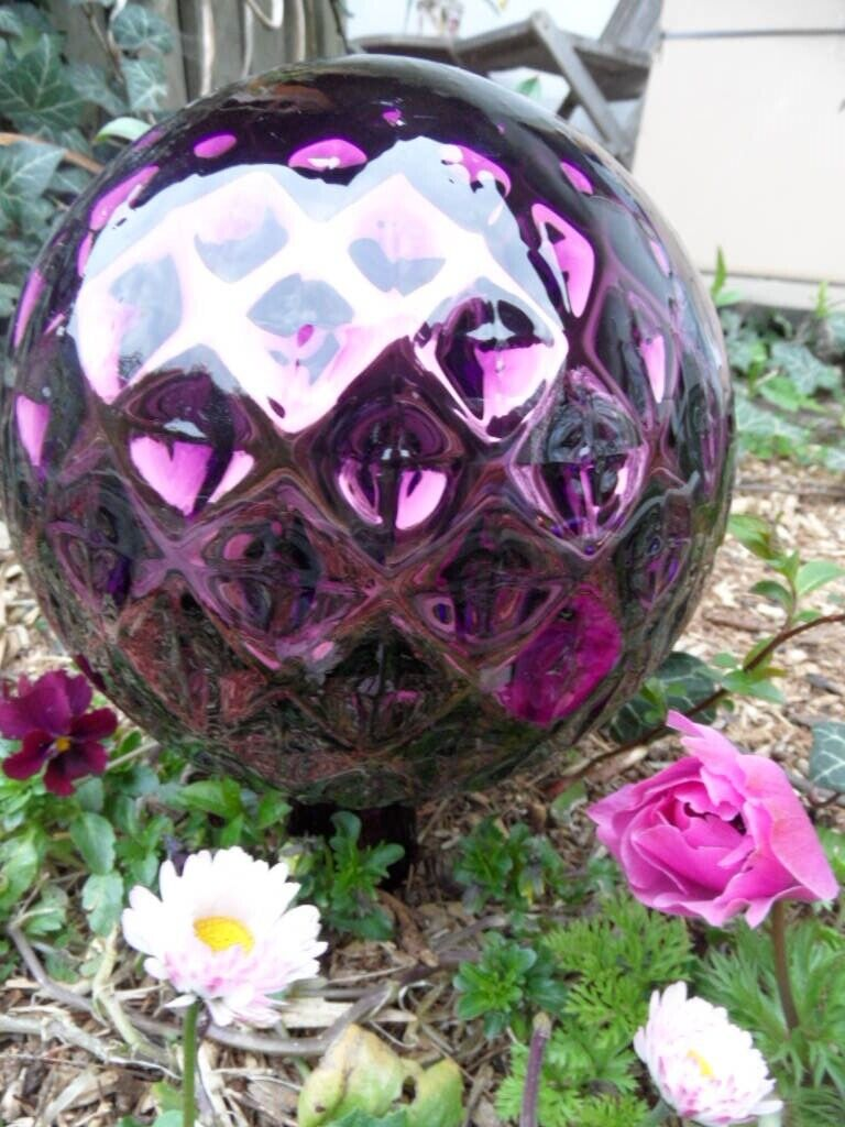 XXXL Rosenkugeln  Glaskugeln Gartenkugeln Rosenkugel ø18cm Lila Garten Balkon