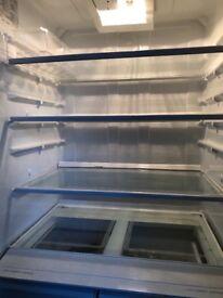 Stainless Steel Smeg fridge freezer