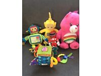 Assorted baby toys