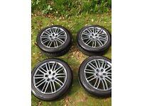 """Rial Murago 17"""" Graphite Alloy Wheels"""