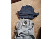 Ladies funnel neck jumpers size 14