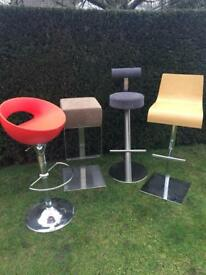 A fabulous collection of contemporary bar stools: brand new.
