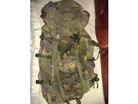 BRITISH ARMY DPM LONG BACK BERGEN RUCKSACK