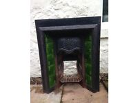 Original Victorian fireplace with tiles