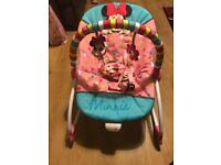 Minnie Mouse baby rocker chair