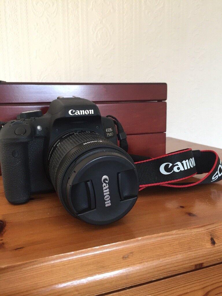Canon 750D + 18-55mm Lens + Tripod, Bag & Accessories