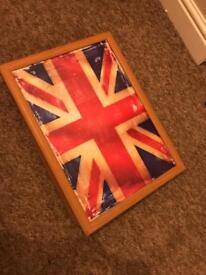 Union Jack lap tray