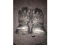 Richa large leather summer motorcycle gloves NOT WORN ATALL