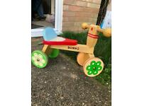 Wooden toddlers bike