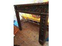 Wooden mantlepiece cover