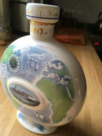WADE Collectible P&O Oriana Cruise Ship China Cognac Flask Bottle