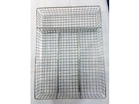 A kitchen worktop stainless steel mesh basket for accessories like knives,spoons etc, bargain £5