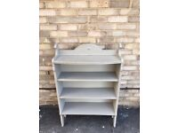 BOOKCASE BOOKSHELVES GREY FREE STANDING SOLID WOOD PAINTED