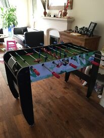 Full size football table with balls