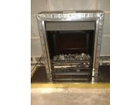 Electric fire work surround with coal