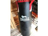 Full leather lonsdale punch bag 3ft bag new bixing gear gym equipment fitness conditioning