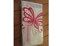 Girls butterfly duvet and pillow set