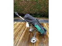 Full Set of Golf Clubs inc trolley and balls