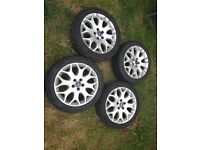 17 alloys Ford with tyres