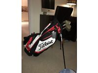 Titleist carry bag and Hogan edge irons