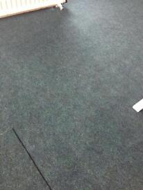 55m of contract carpet. Forest green