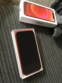 Red iPhone 12 128GB brand new